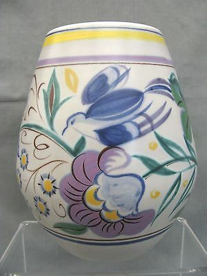 A stunning very large 1950s Poole vase - with the Blue Bird.