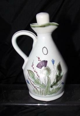 Buchan Pottery Scotland Thistle Pattern Oil Bottle made in Stoneware