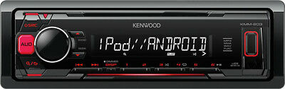 Kenwood Autoradio 1 DIN USB Android Lettore Mp3 iPhone iPod Stereo Auto KMM-203