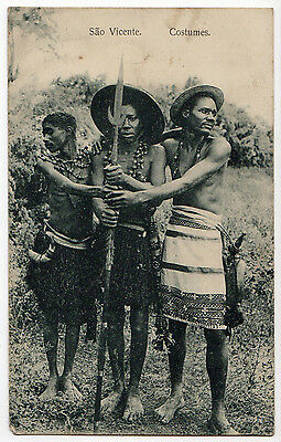 Cape Verde, Sao Vicente, Costumes ~ A Vintage Ethnic Real Photo Postcard (P75)