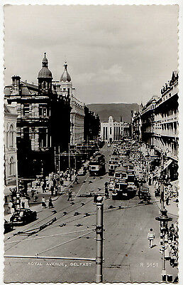 ROYAL AVENUE, BELFAST ~ AN OLD REAL PHOTO POSTCARD (f13)