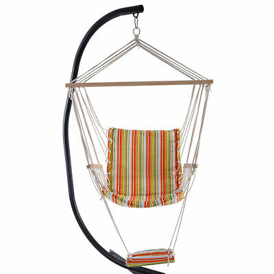 New Garden Patio Porch Hammock Hanging Rope Swing Chair