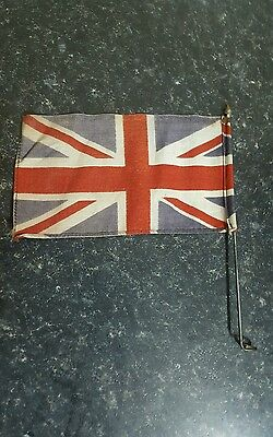 WW2 ? vintage union jack car bike flag pennant