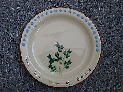 Motto Ware torquay plate irish clover theme - three little leaves of shamrock