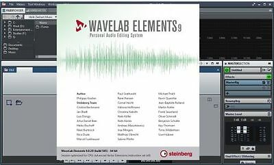 Steinberg Dongle mit Wavelab Elements 9 + Cubase LE 8 + Waves Manny Marroquin