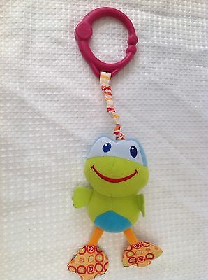 Bright Starts Clip On Vibrating Frog Baby Toy