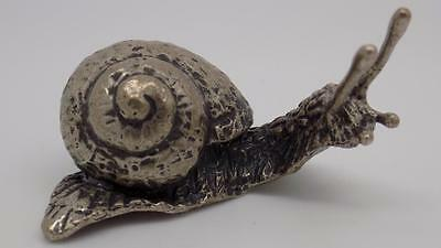 Vintage Solid Silver REAL LIFE SIZE Big Snail - Stamped - Made in Italy