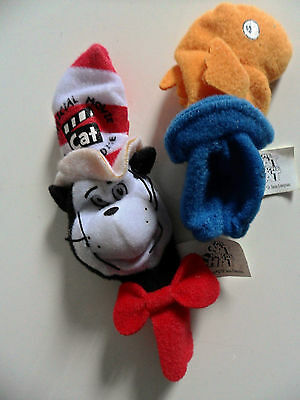 Cat In The Hat & Orange Fish 2 x Official Pencil Topper Puppet Kelloggs Promo