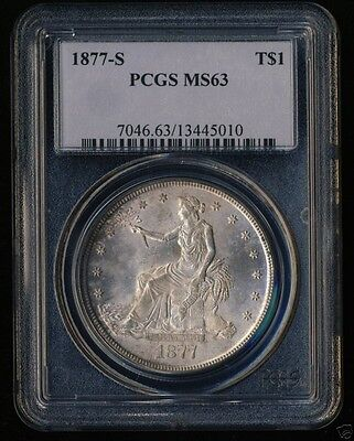 1877 S PCGS MS63 uncirculated Trade Dollar