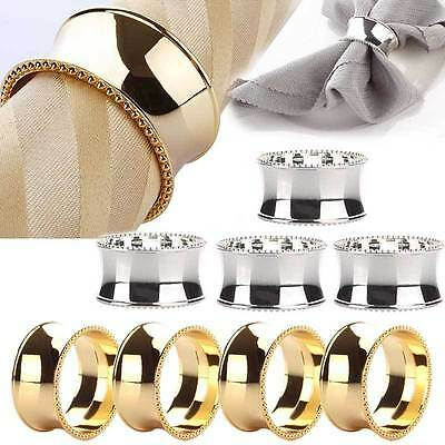 4pcs Bead Edge Towel Napkin Ring Holder Party Wedding Banquet Table Decor