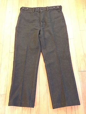 VINTAGE 1960's 1970's FILSON GREEN WOOL PANTS SIZE 38 WAIST made in USA