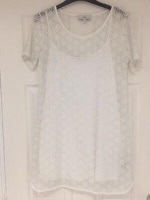 NEXT White Lace Dress - Size 8