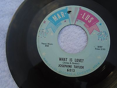 josephine taylor what is love on Marvlus orig vg++ drill hole