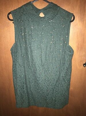 NEXT women's Size 10 Turtle Neck Top Shirt, Green