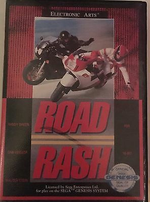 Sega Genesis Game Road Rash Boxed with instructions - Mint