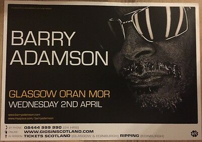 Barry Adamson - Concert/ gig poster, Glasgow - April 2008