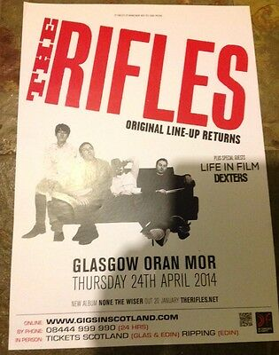 The Rifles - gig poster, Glasgow ,Scotland, April 2014