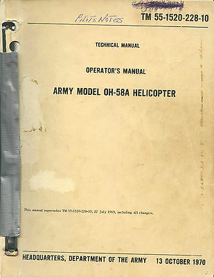 Operator's Manual Army Model Oh-58 Helicopter - Tm 55-1520-228-10