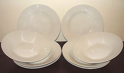Set of 12 classic white cereal / soup / dessert bowls - brand new