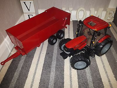 Britain ERTL Toy Tractor & Trailer - Red -  (1/32) CASE IH Puma