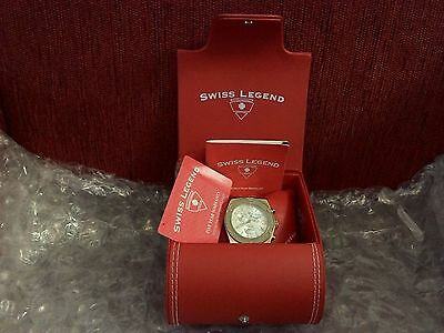 Swiss Legend Men's Chronograph Solid Gold-Plated Stainless Steel Date Watch.316L