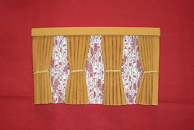 Dolls House Curtains Gold Inside Bay