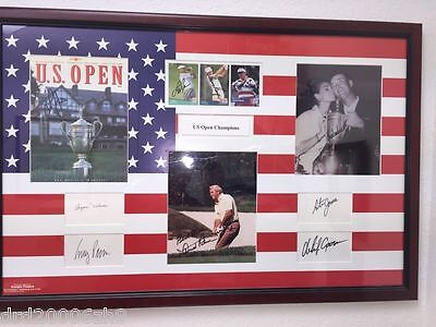 US OPEN Golf Champions Signed and Framed Beautiful Piece Arnold Palmer 10 autos