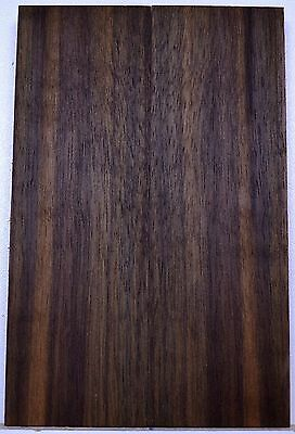 "knife Scales BLACK WALNUT Bookmatch Pistol Grip 5 1/2"" x 1 3/4"" Wood BULK"
