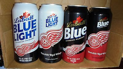 2  --16Oz.  Detroit Red Wings  Beer Cans    2016 Edition