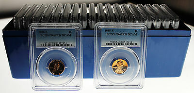 Twenty Different Pcgs Proof69Rd Dcam Lincoln Cents