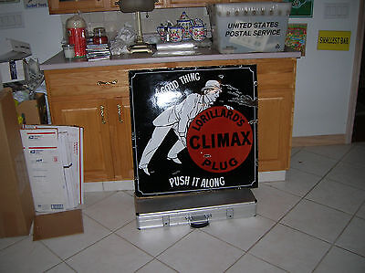 1898 Lorillard Porcelain  Tobacco  Sign Climax Plug 119 Years Old Very Rare