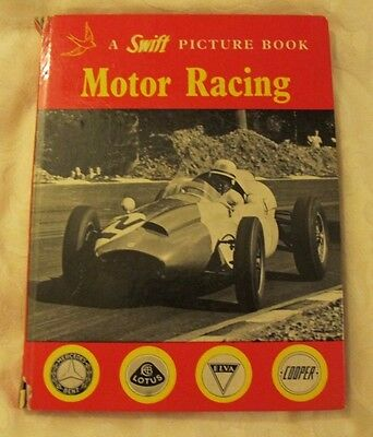 A SWIFT  PICTURE BOOK  Motor Racing 1961 Grand prix pictures etc GOOD FOR  AGE