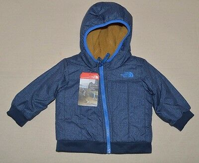 The North Face Infant Yukon Reversible Jacket Hoodie Boys COSMIC BLUE 6 12 Month