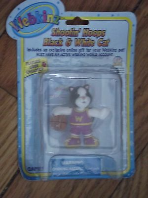 Webkinz  Collectible Shootin Hoops Black And White Cat-  New w/Unused Code