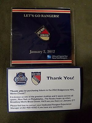 2012 NHL New York Rangers RARE WINTER CLASSIC Official Hockey PIN TEAM ISSUE