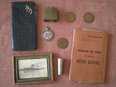 WW1 SPORTS MEDAL & Effects to BROWN Family, 2nd CMR (30th BCH) and 54th KOOTENAY