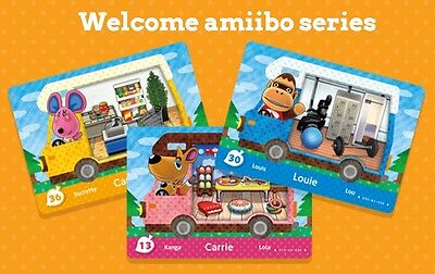 Welcome Amiibo Cards - Animal Crossing New Leaf - Series 5 - Na / Us