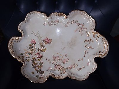 Antique Victorian Large Oval CANAPES Charger Tray GEORGE JONES China CRESCENT