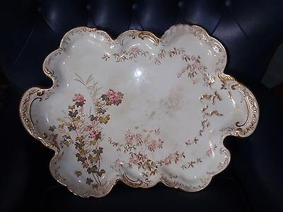 GEORGE JONES Victorian Large Oval CANAPES Serving Plate Tray China CRESCENT