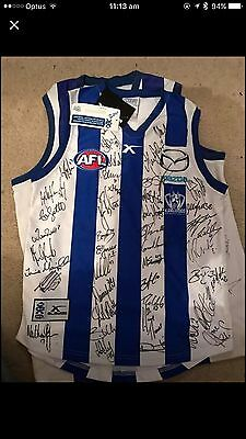 North Melbourne Football Club Signed Guernsey Entire Team X 5 Various Years