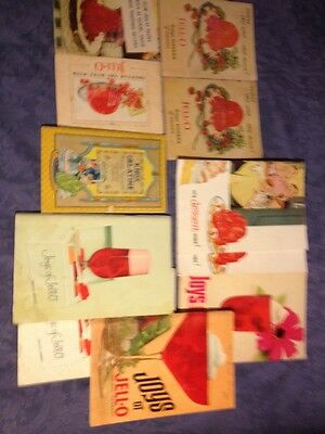 Jello Recipe Books,  Lot Of Eleven Books