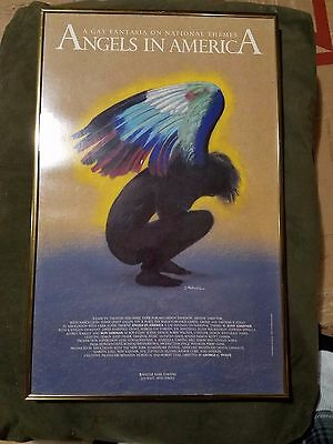 ORIGINAL ANGELS IN AMERICA Poster RARE Framed Original Broadway Cast Ron Liebman