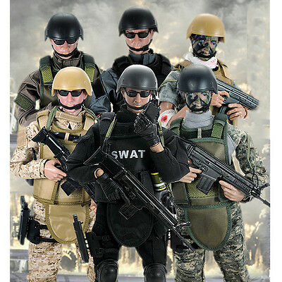 1/6 Scale Military Army Soldier Special Force S.D.U SWAT Flexible Figures Toys