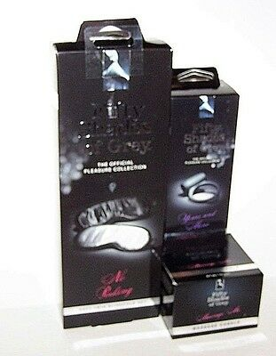 Fifty Shades of Grey No Peeking Blindfold's Message Candle Vibrating Love Ring