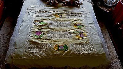 Snugglepot and Cuddlepie handmade embroidered cot quilt