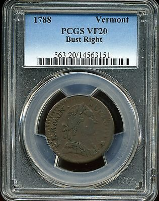 1788 Vermont Colonial Bust Right VF20 PCGS 14563151