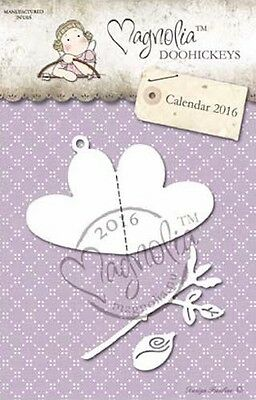 Magnolia Stamps DooHickey - Rose and Heart Tag - RC17-06