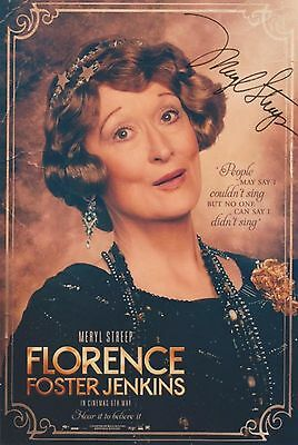 Florence Foster Jenkins (2016) Meryl Streep EXTREMELY RARE SIGNED RP 8x10 WOW!!