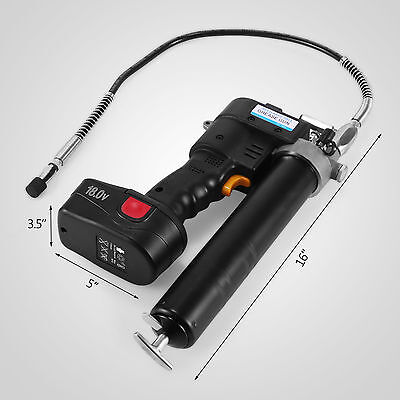 Grease Gun Cordless Rechargeable 18V Conditioner Indicator Lcd Battery Aluminum