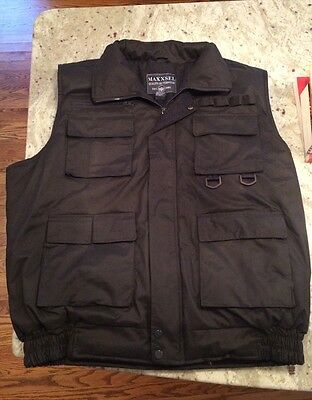 MAXXSEL MULTI POCKETS MEN OUTDOOR MILITARY STYLE VEST size XL EUC
